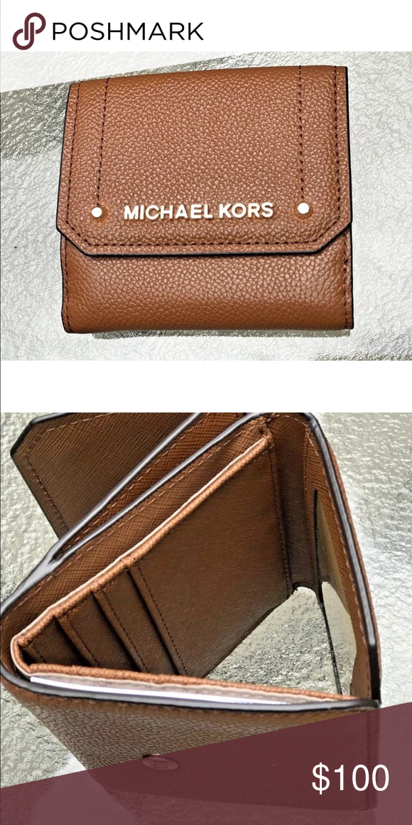 d91d03b2b162 MICHAEL KORS HAYES MED TRIFOLD COIN PURSE WALLET From MICHAEL Michael Kors  Hayes Collections