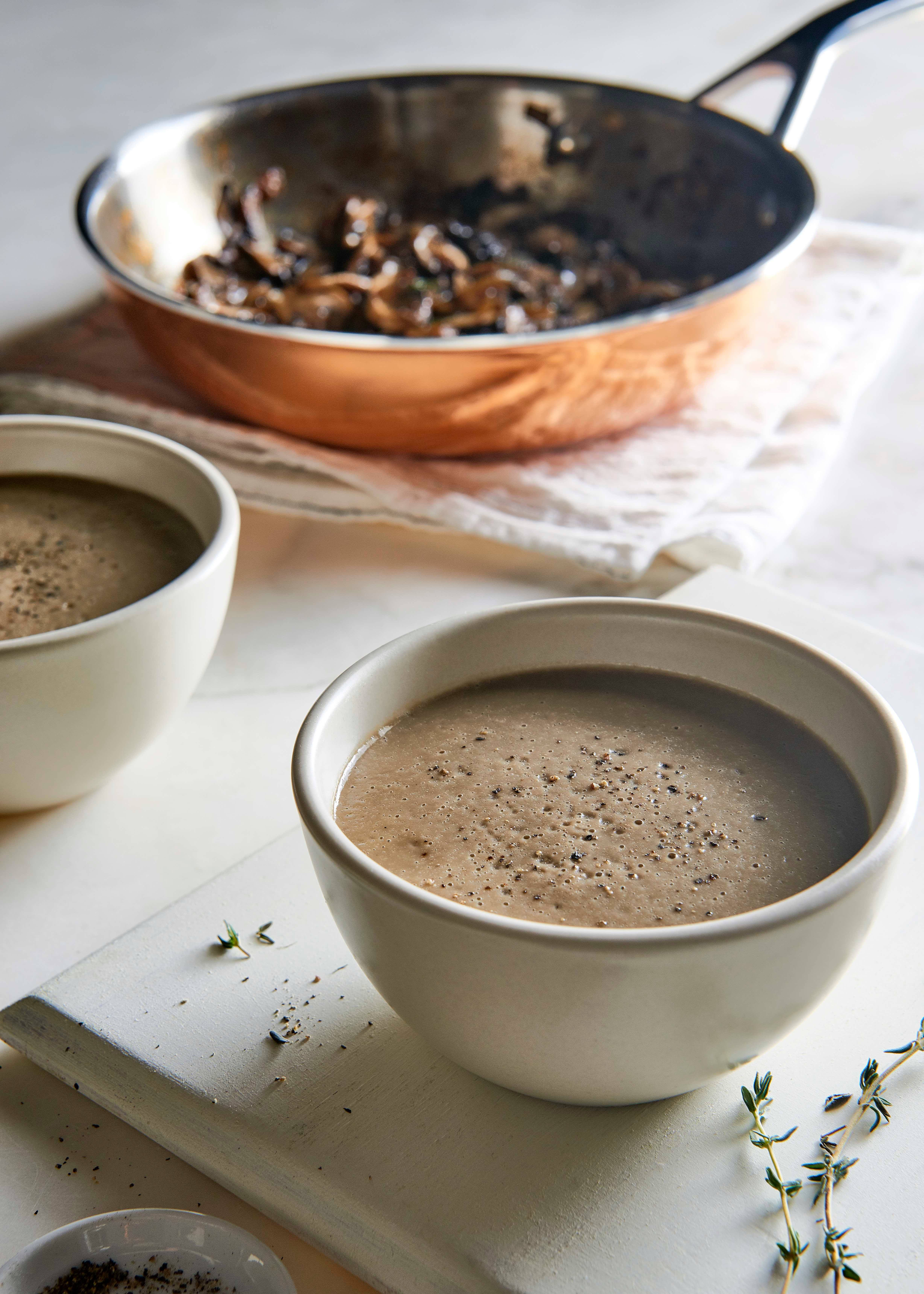 CREAM OF MUSHROOM SOUP  You can throw this together in less
