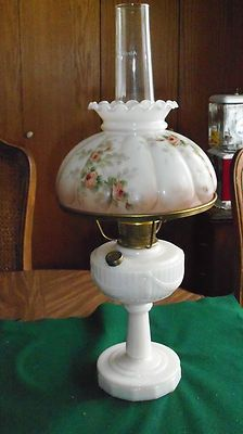 Vintage Lincoln Drape Alacite Aladdin Kerosine Oil Lamp Glass Lamp