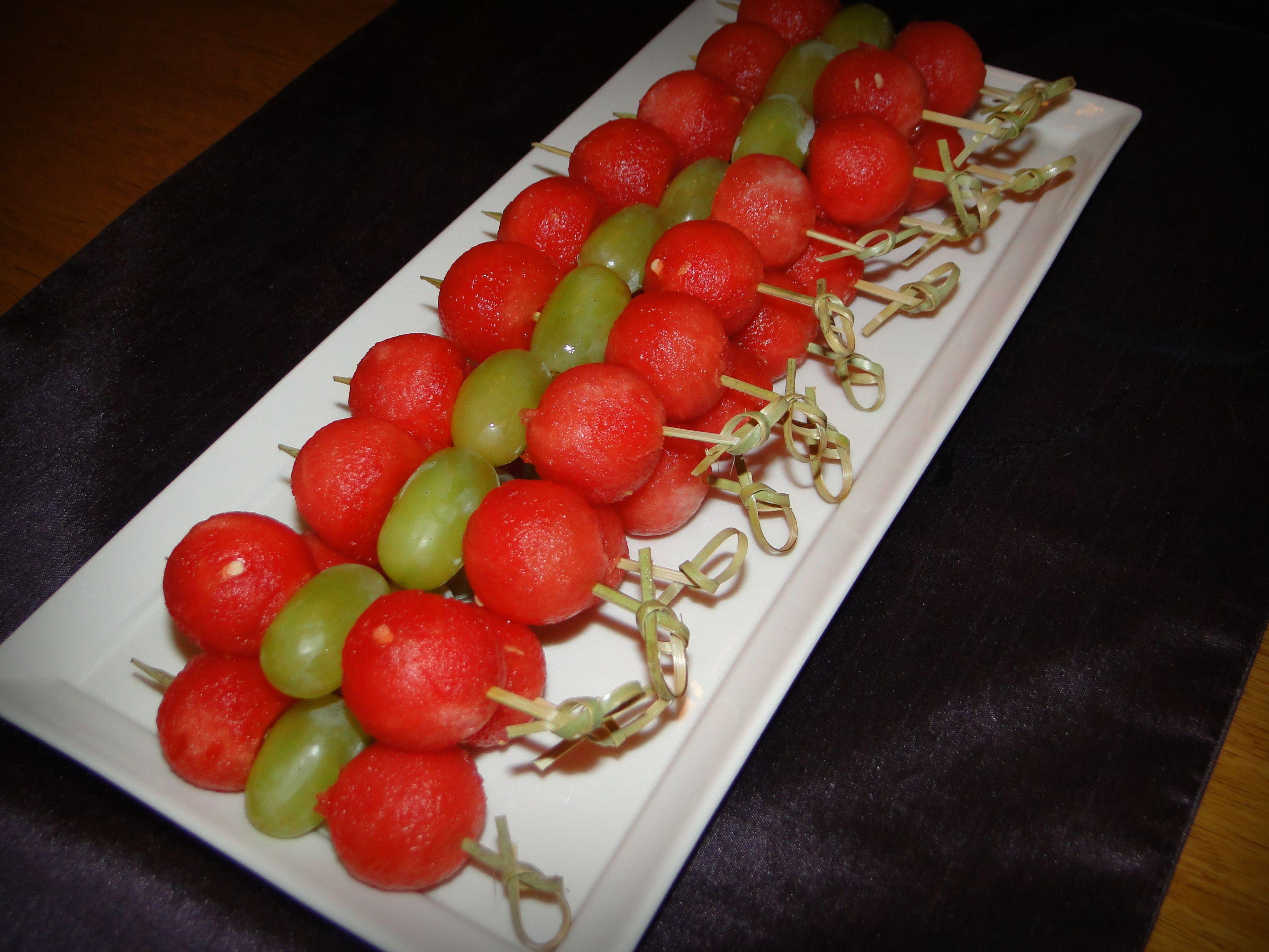 Watermelon balls \u0026 grapes   Food \u0026 Entertainment   Pinterest ...