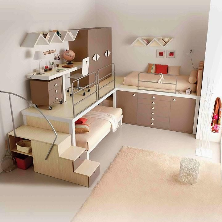 Decorar Un Dormitorio Juvenil Pequeno Mini Bedroom Pinterest - Dormitorio-juvenil-pequeo