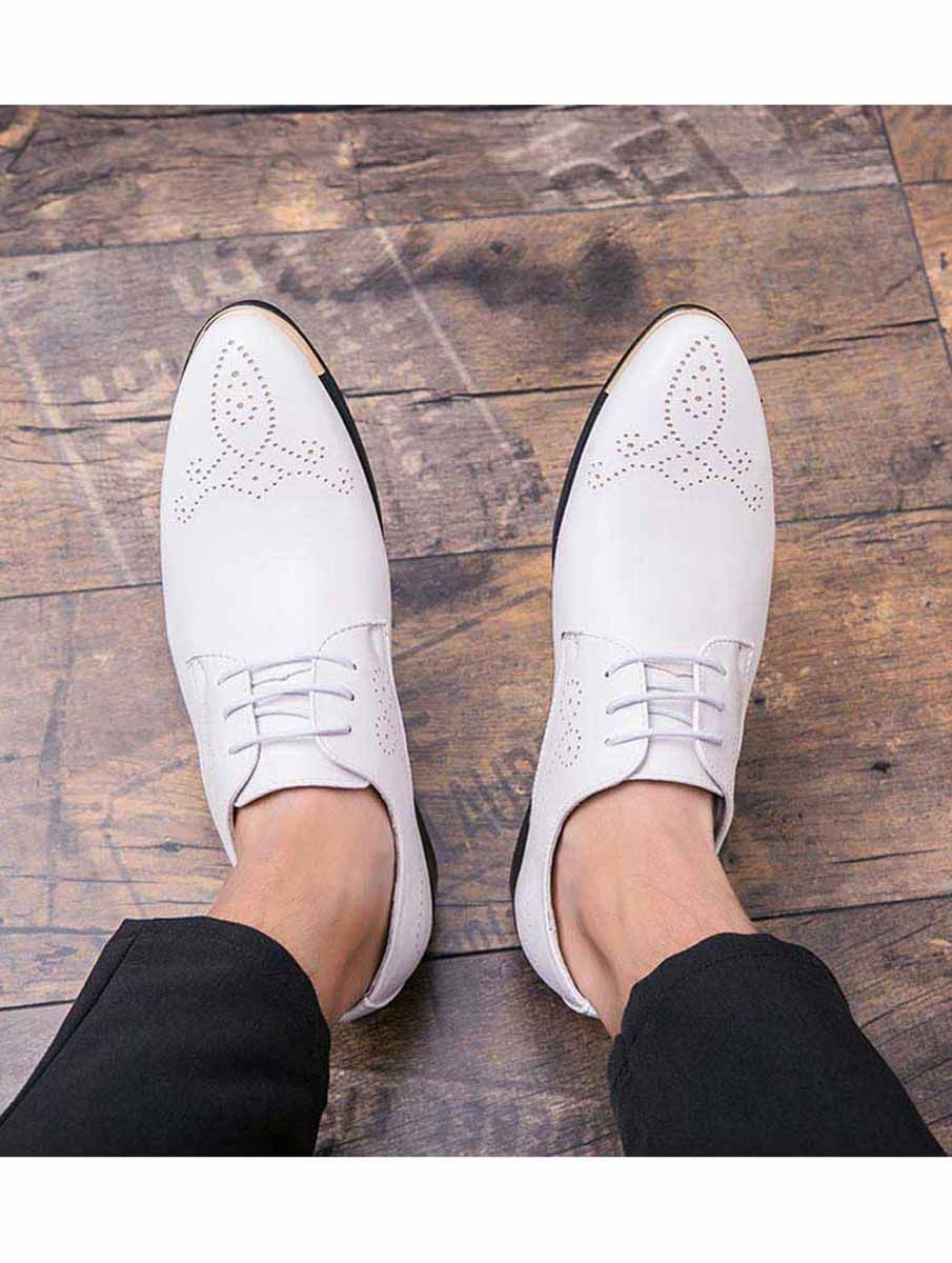 White Leather Derby Brogue Dress Shoe 1529 Dress Shoes Men Dress Shoes Leather Dress Shoes [ 1200 x 905 Pixel ]