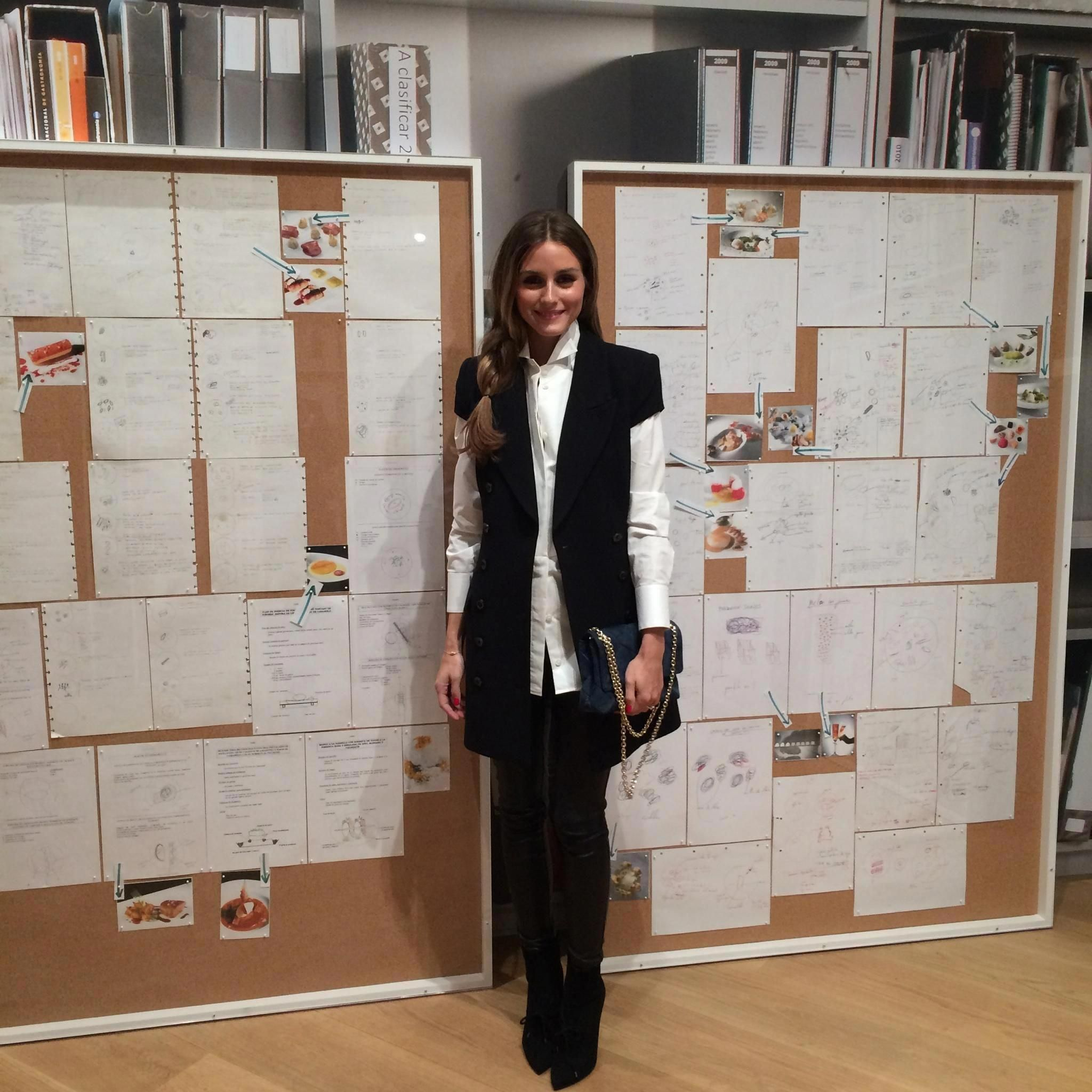 a4d39a2bd44 Olivia in a Giorgio Armani shirt and shoes