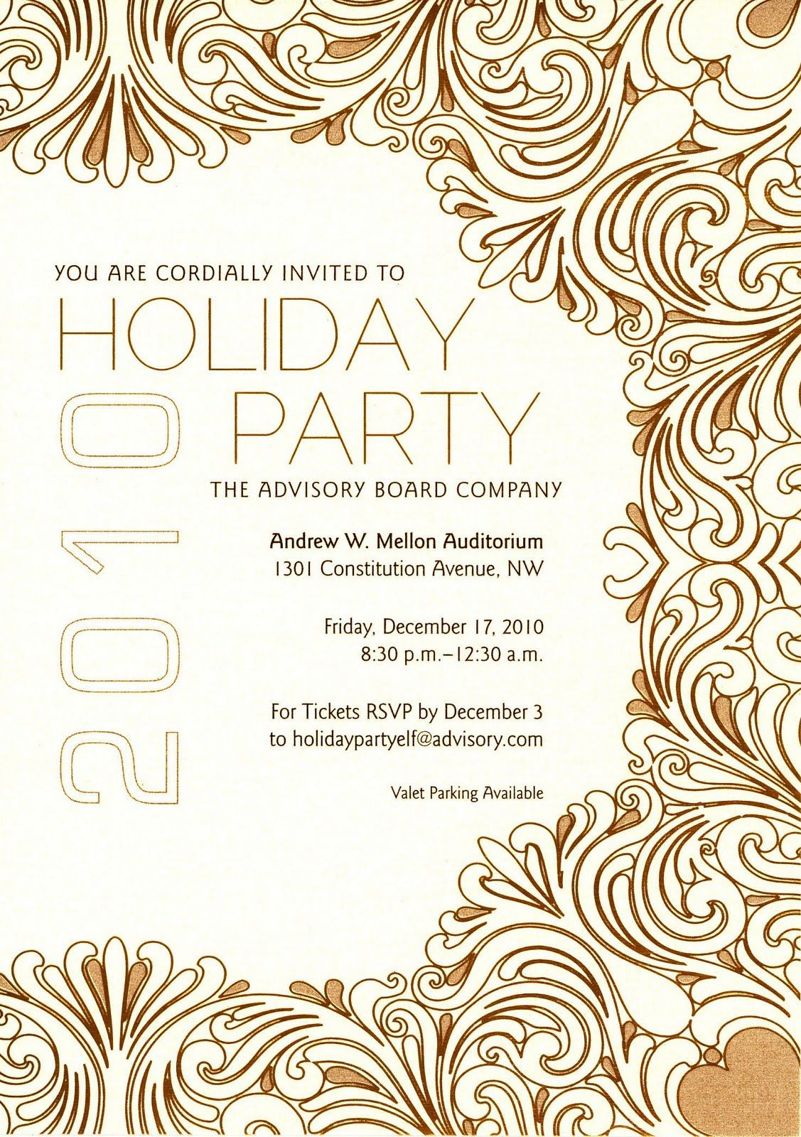 Mysoon Taha Portfolio Company Christmas Party Invitation - Party invitation template: office christmas party invite template