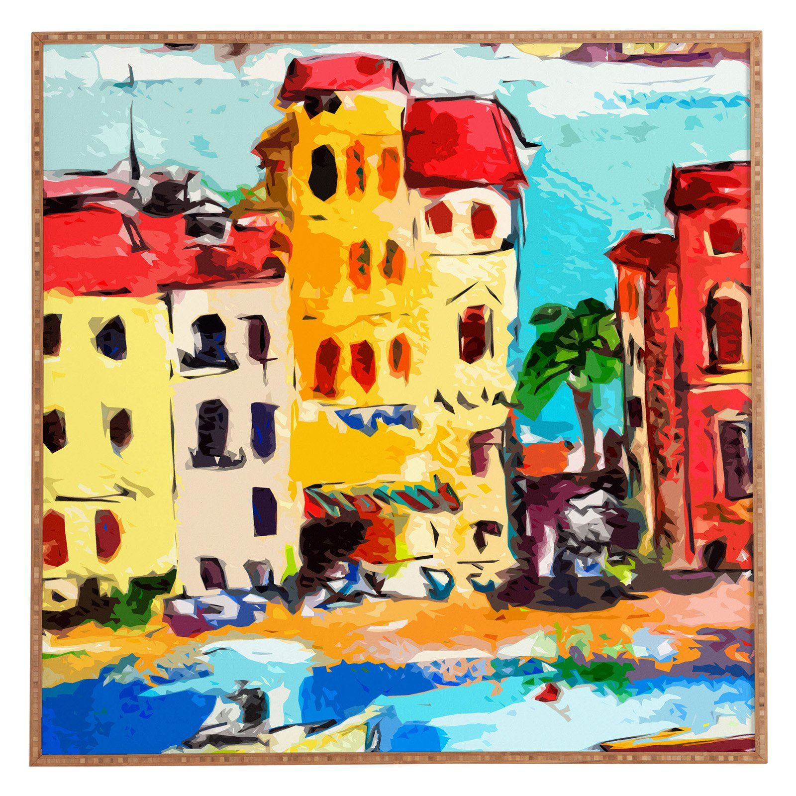 Deny Designs Ginette Fine Art Sestri Levante Italy Yellow House ...