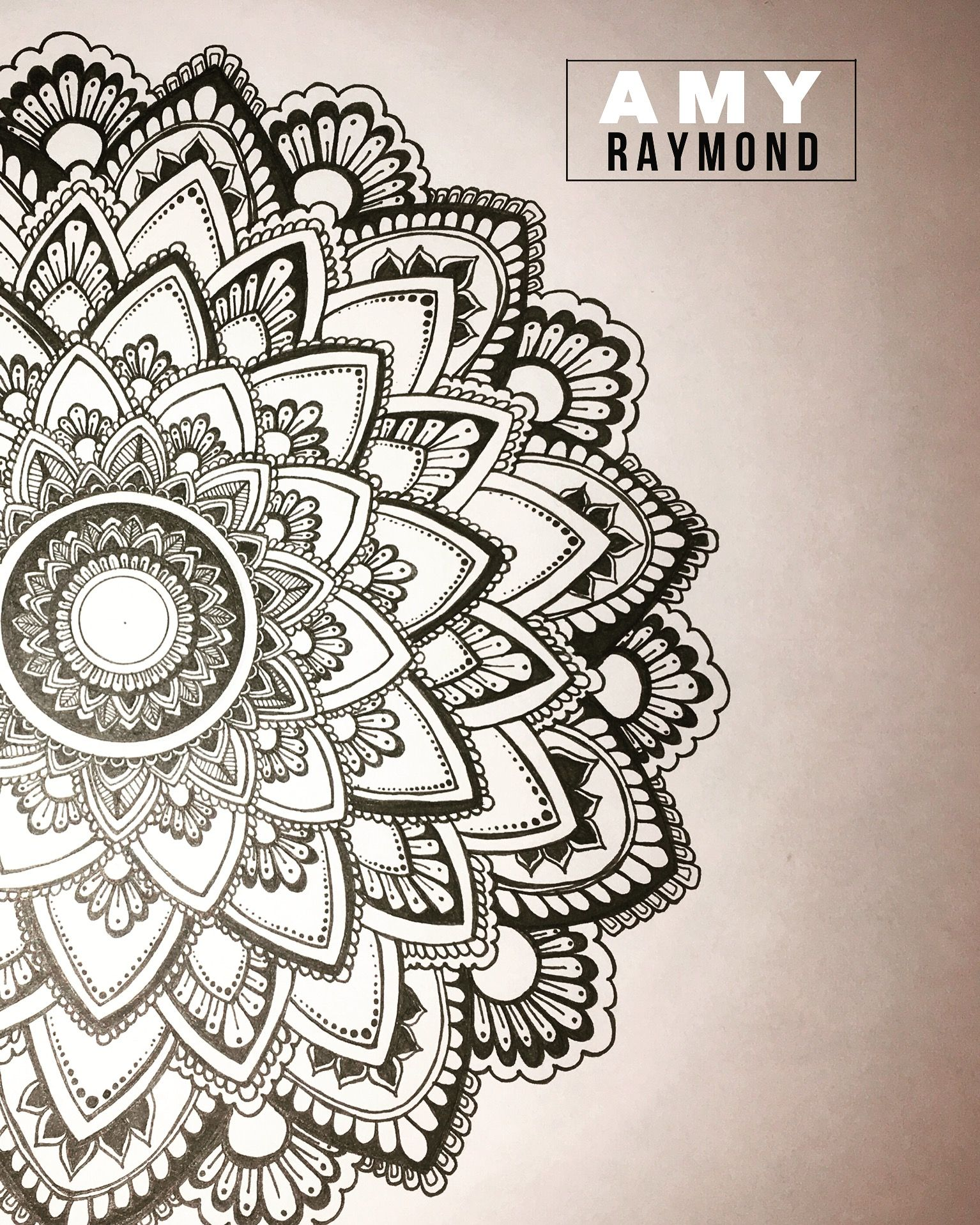 Mehndi Zentangle : Mandala sketch pigma doodle inkart mixedmedia art