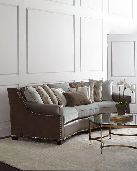 Massoud Glimmer Leather Sofa In 2019 Living Room Sofa Sofa Design Kitchens Bedrooms