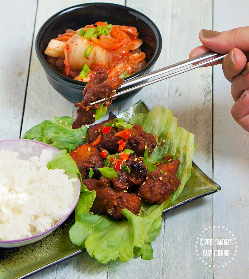 Delicious Homemade Korean BBQ recipe for Spicy Grilled Boneless Pork Spare Ribs