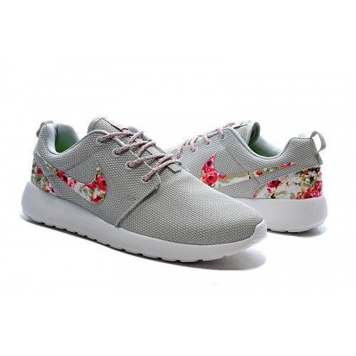 Kaufen HerrenDamen Nike Roshe One Print Blumen Light grau