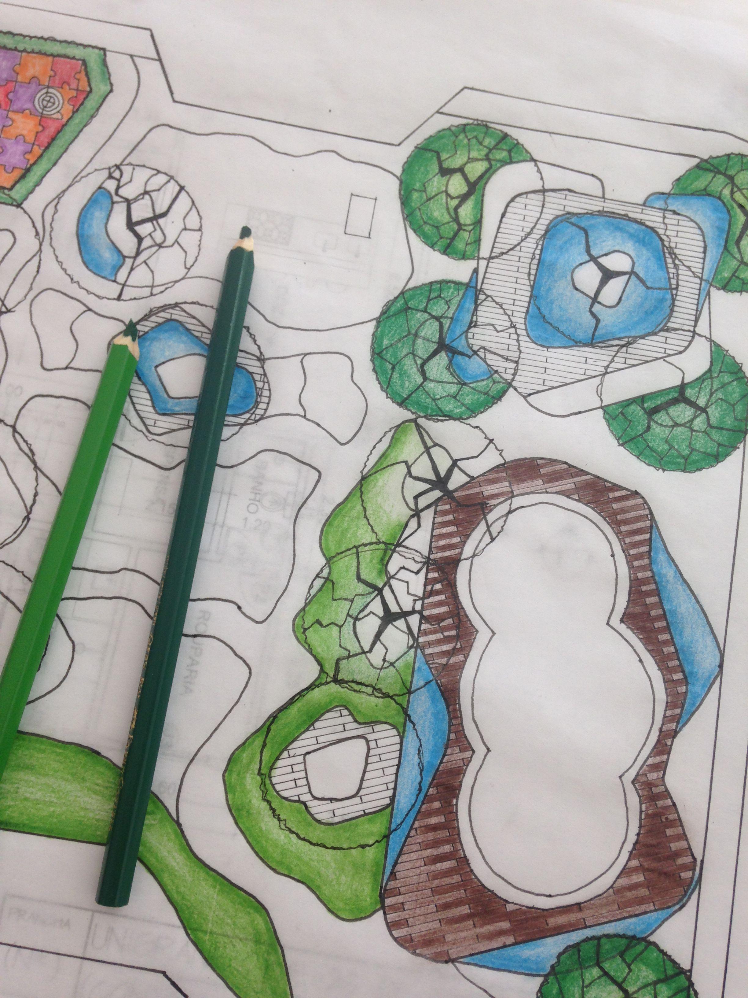 Elaboração de paisagismo.