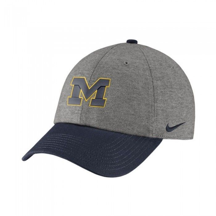 633ce26f112 University of Michigan Nike Heritage Heather Block M Adjustable Hat At Campus  Den