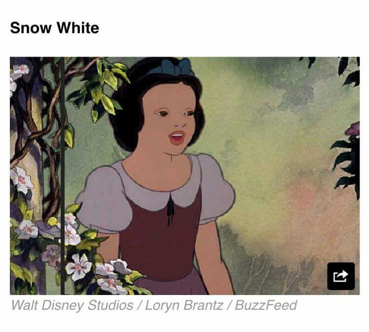 Snow White with no makeup on.
