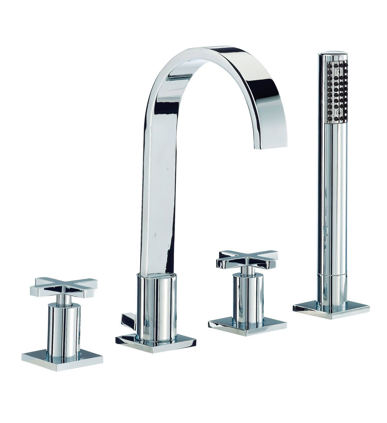 Mayfair Surf 4 Tap Hole Bath Shower Mixer Tap With Shower Kit ...