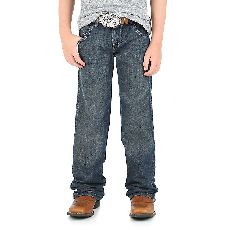 Wrangler NEW Boys Relaxed Fit Bootcut Leg Dark Wash Denim Jeans