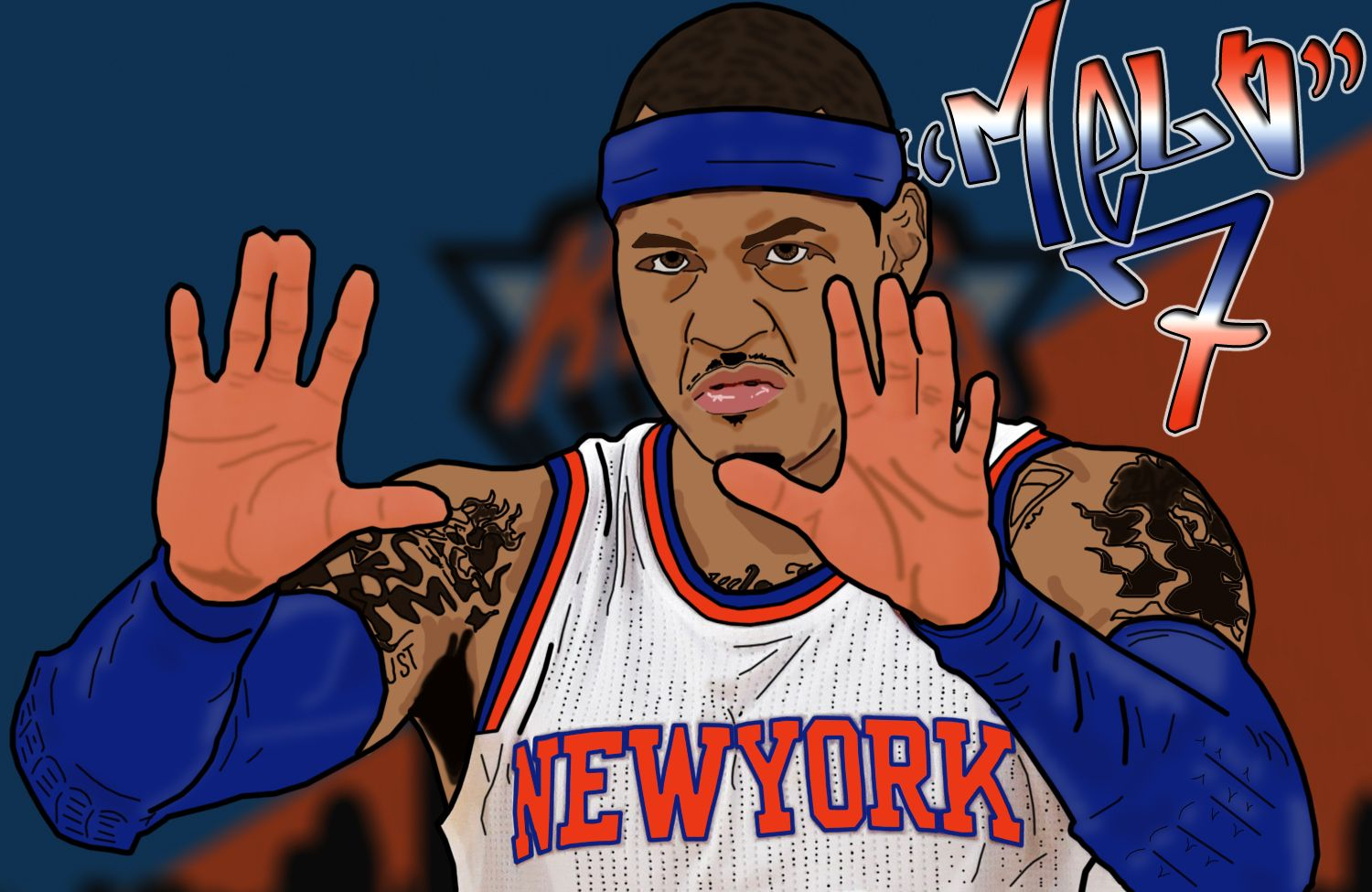 Nba Dope Art: Nba Art, Sports Art, Carmelo Anthony