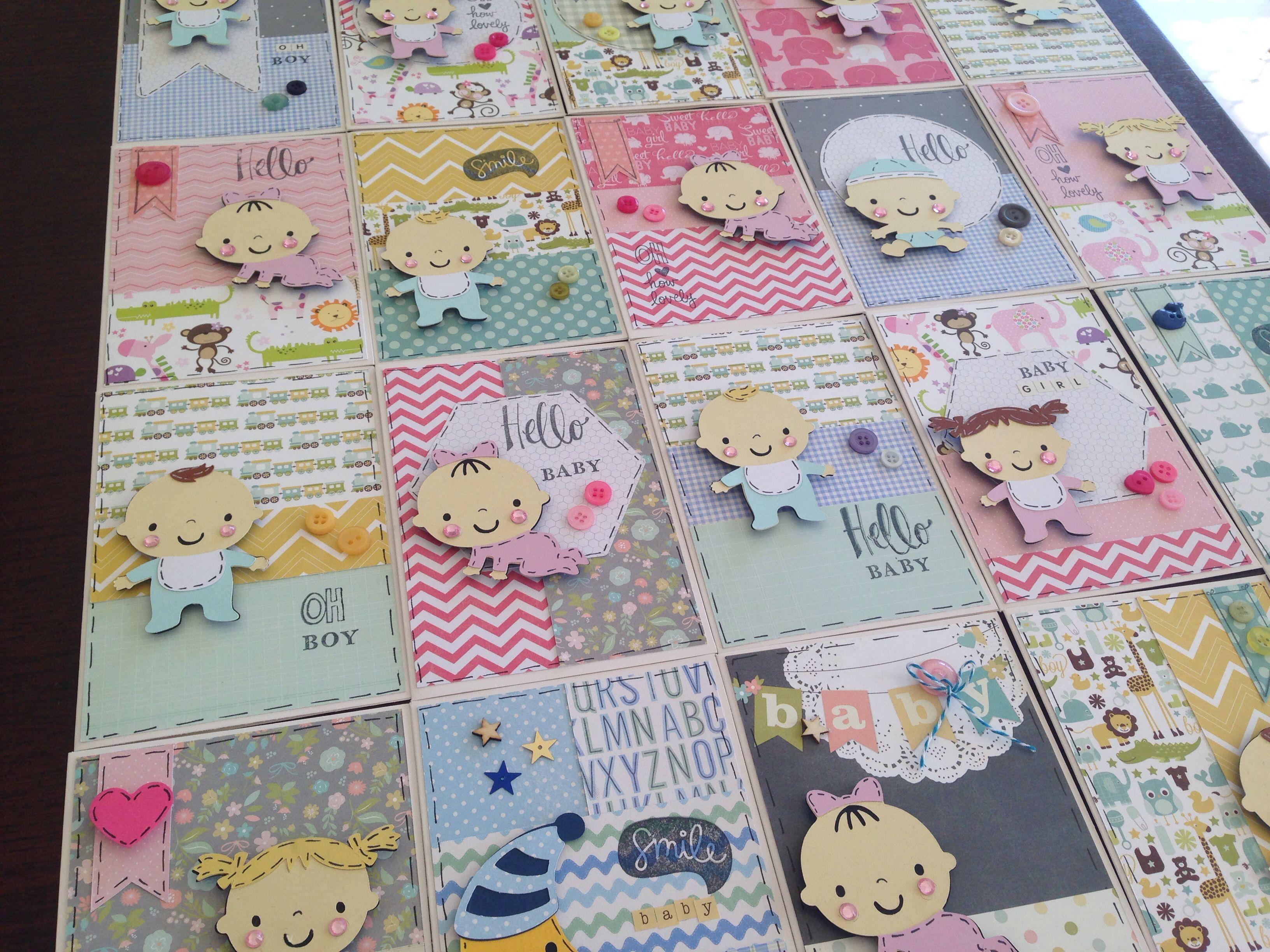 Baby Steps Cricut Girl Boy Handmade Card Willow Fox Design