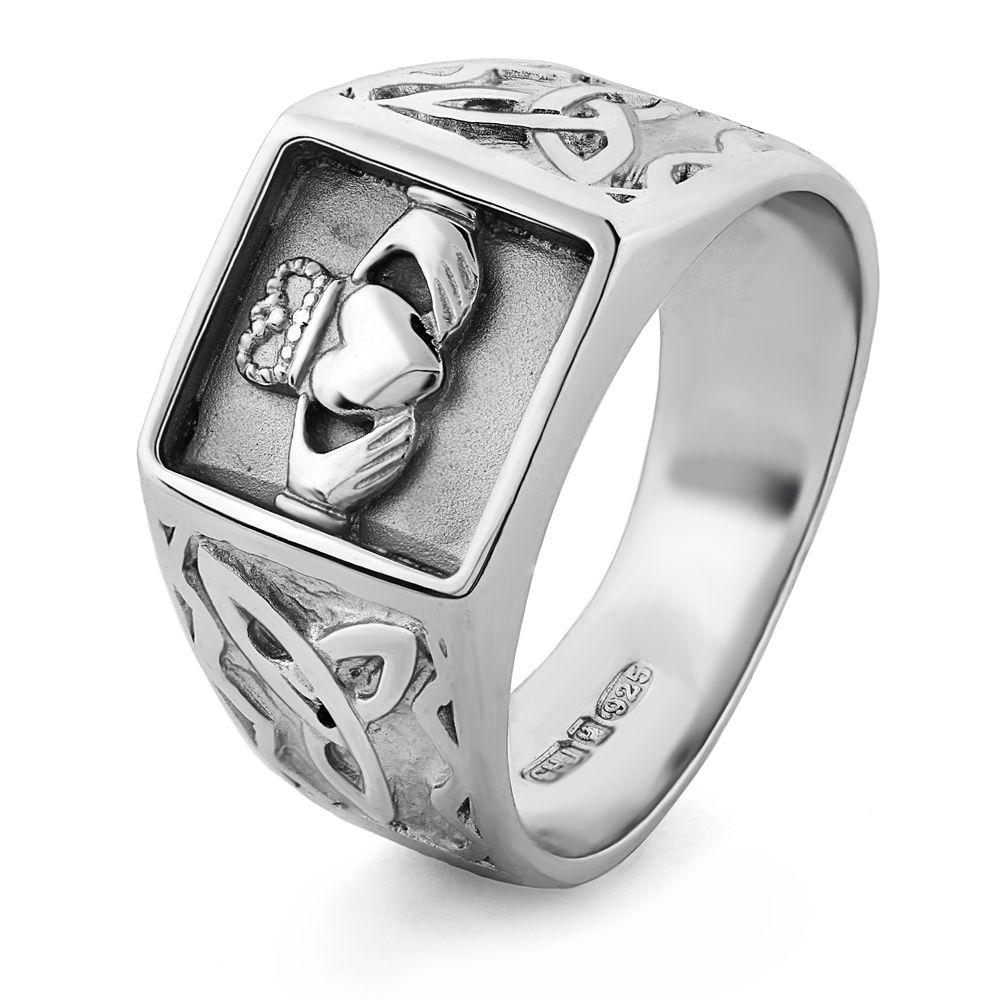 claddagh wedding bands MENS Silver Claddagh Ring MS CLAD33