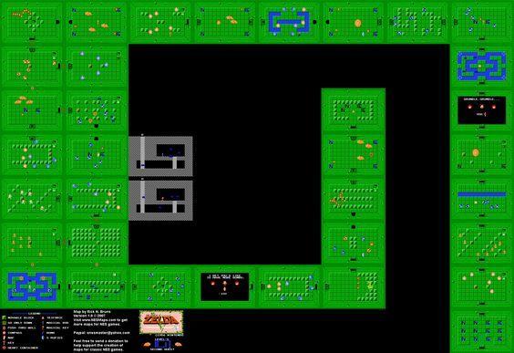 The Legend Of Zelda Level 8 Quest 2 Nes Map Zelda Map