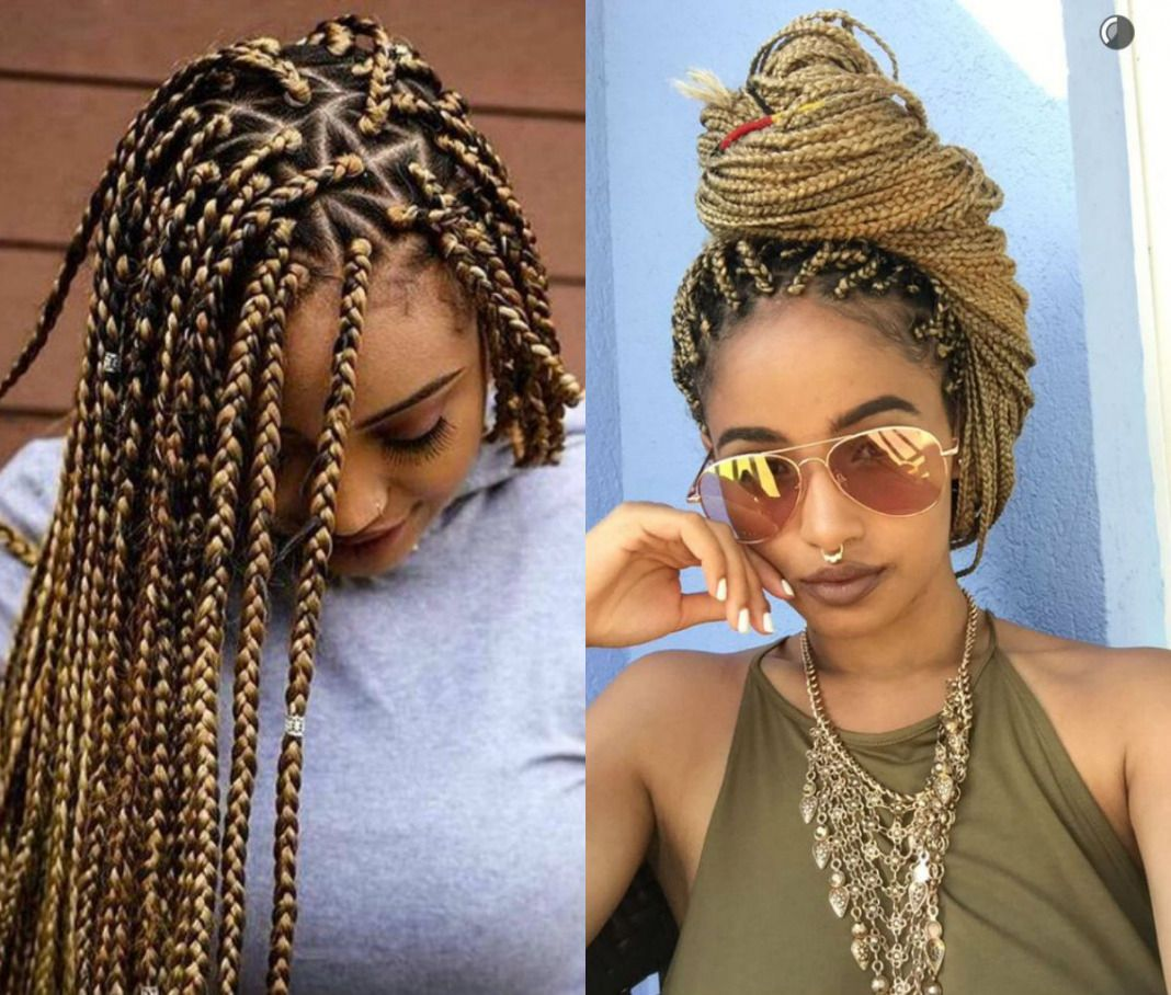 spectacular long box braids hairstyles 2017 | hairdrome