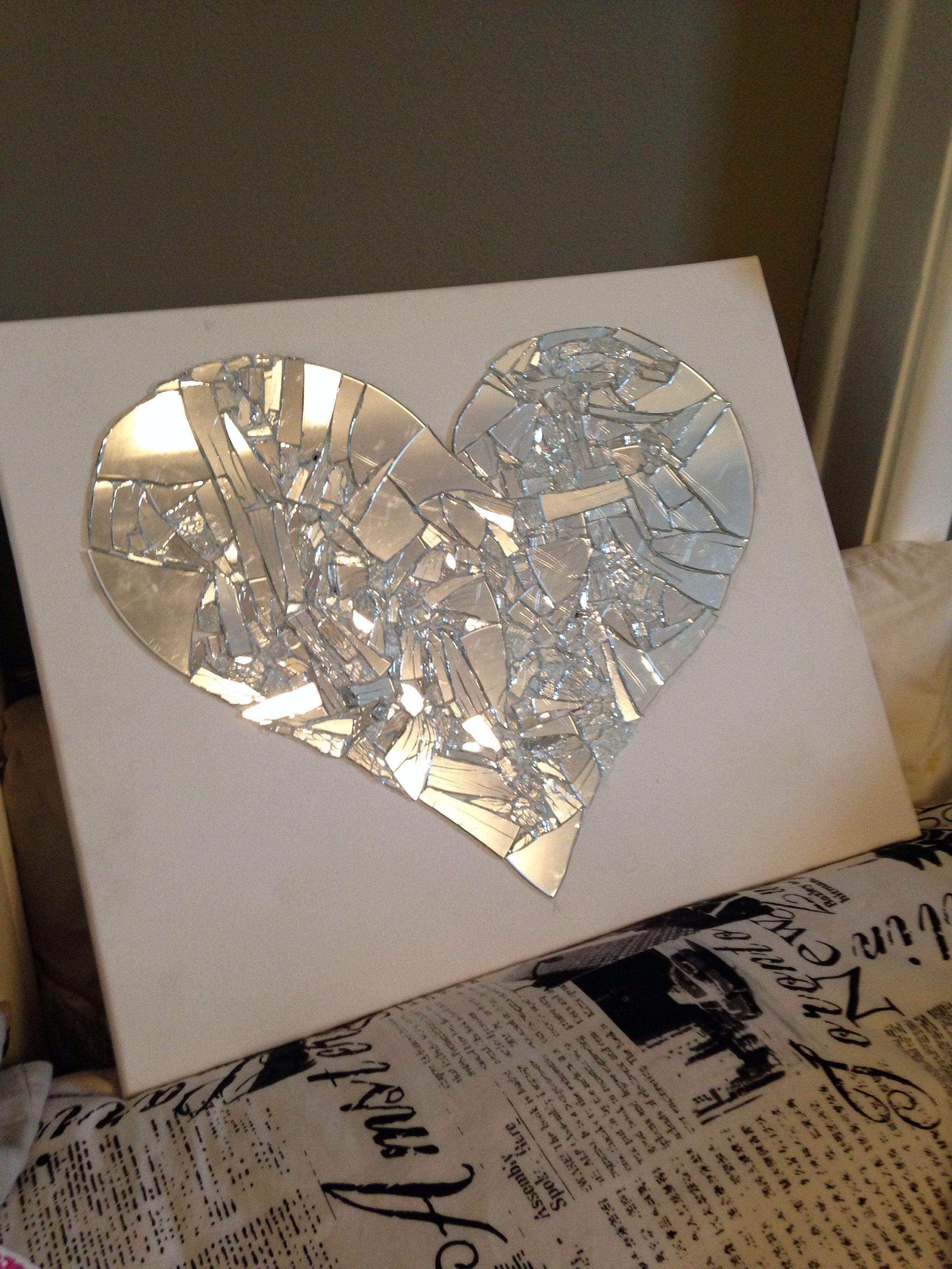Pin On Diy Broken Mirror Art