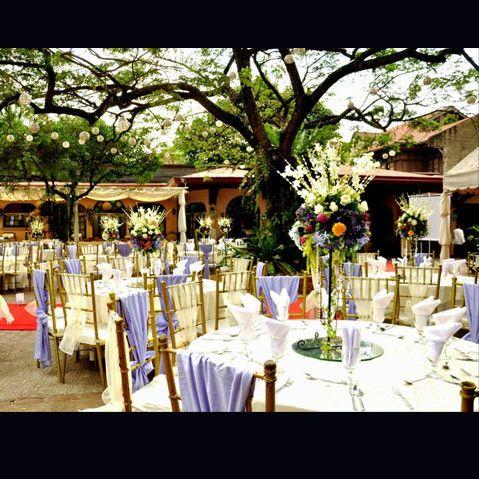 Garden Wedding And Reception Setup At Patio Victoria