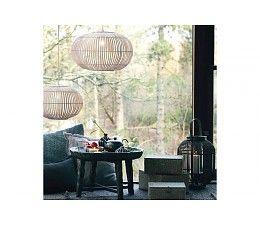 Broste Copenhagen Hanging Lamp Bamboo Zep Natural M O38cm Lampen