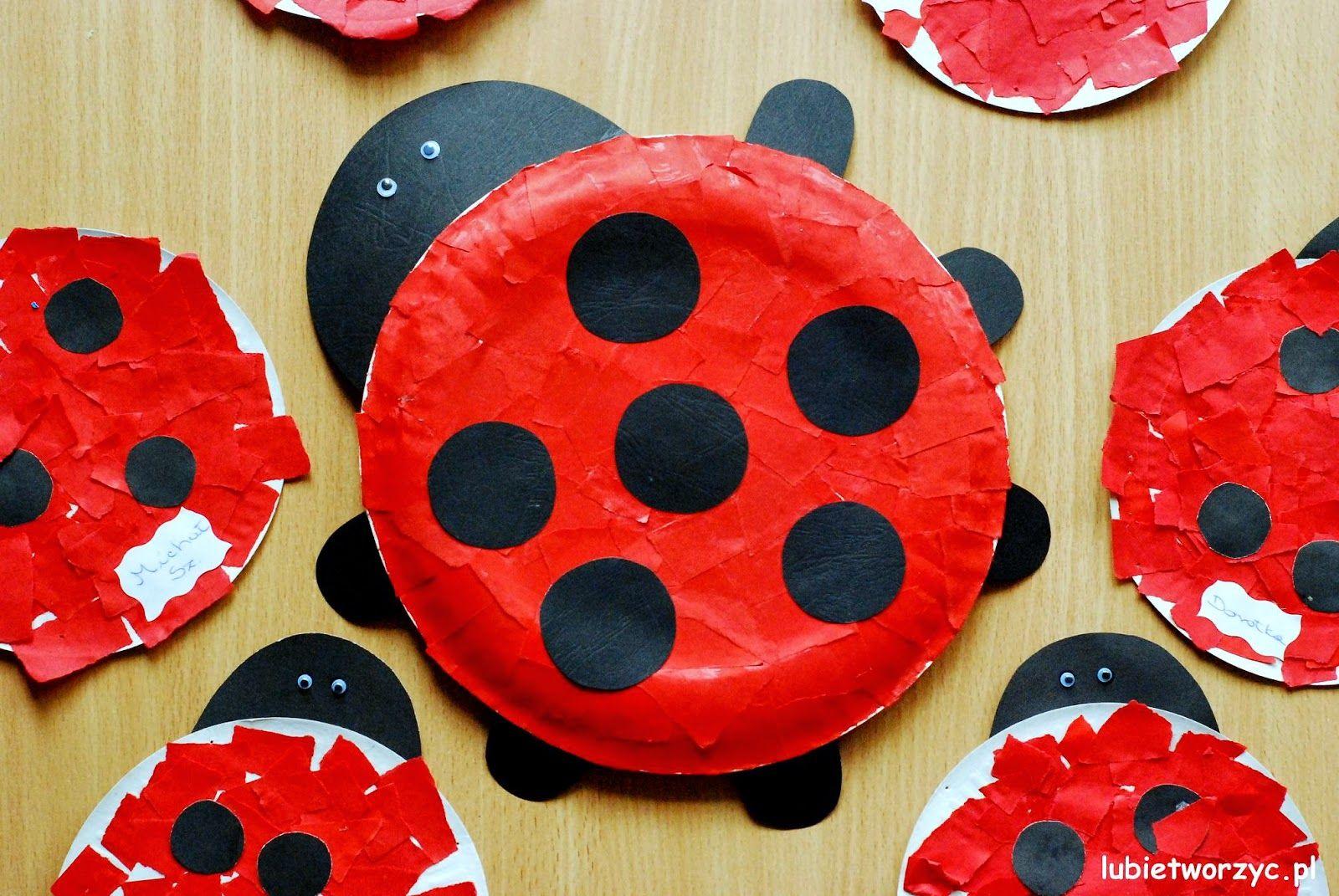 Lubie Tworzyc Biedronka Z Papierowego Talerzyka Crafts Diy And Crafts Minibeasts