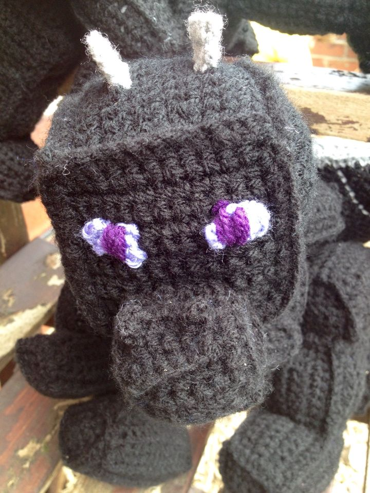 Minecraft inspired crochet Enderdragon. | minecraft crochet ...