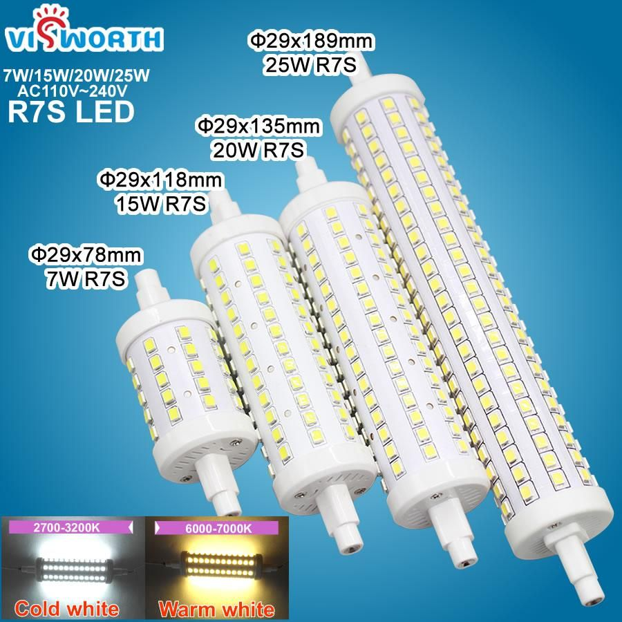 7w 15w 20w 25w R7s Led Bulb 78mm 118mm 135mm 189mm Smd2835 Us 4 05 Led Bulb Halogen Lamp Bulb
