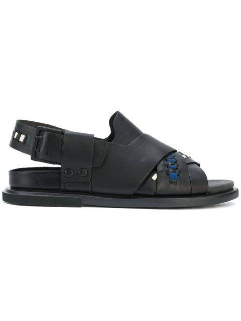 crossover strap stitch detail sandals - White Camper t7XZLPF