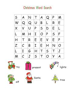 graphic relating to Easy Word Search Printable named Xmas Phrase Lookups! janna kindergarden Xmas