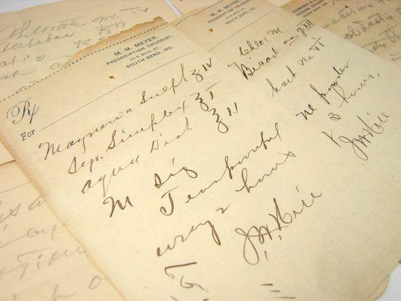 prescriptions Pharmacy Vintage Pinterest Medical prescription
