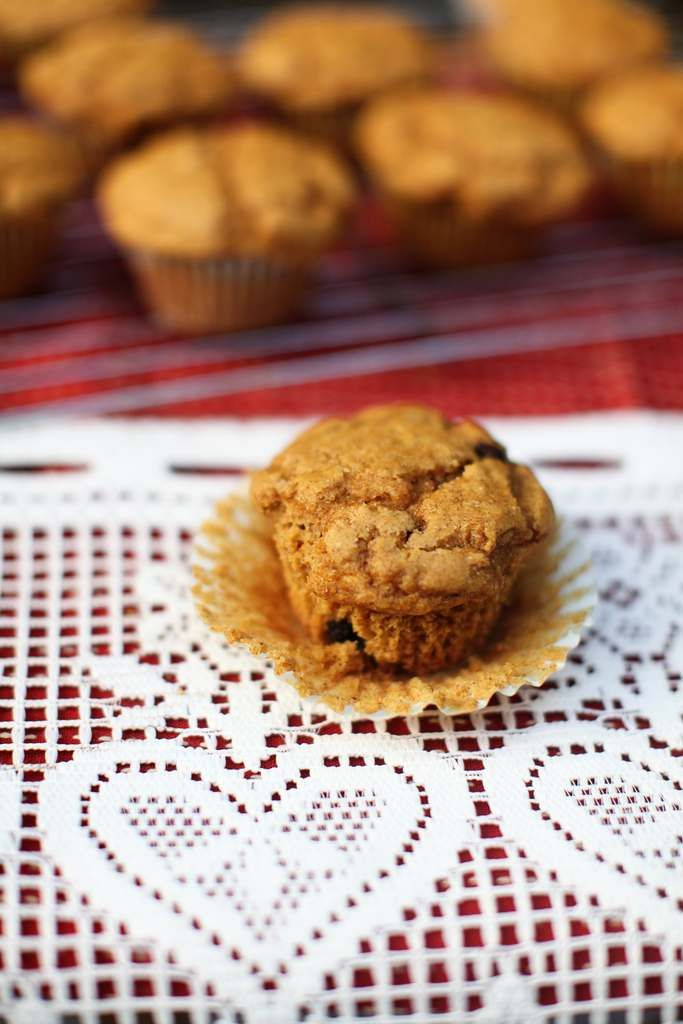 Vegan pumpkin muffins – breakfast or dessert!  Breakfast of champions... would have been better with the chocolate chips, would have covered the chic pea flour. Still yummy.