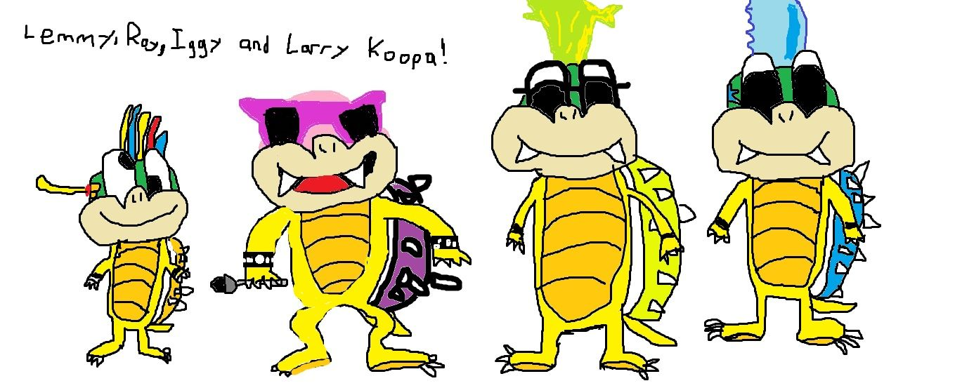 Lemmy Roy Iggy And Larry Koopa Fan Art Lemmy