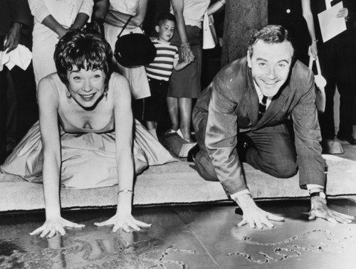 Jack Lemmon and Shirley MacLaine (co stars in The Apartment