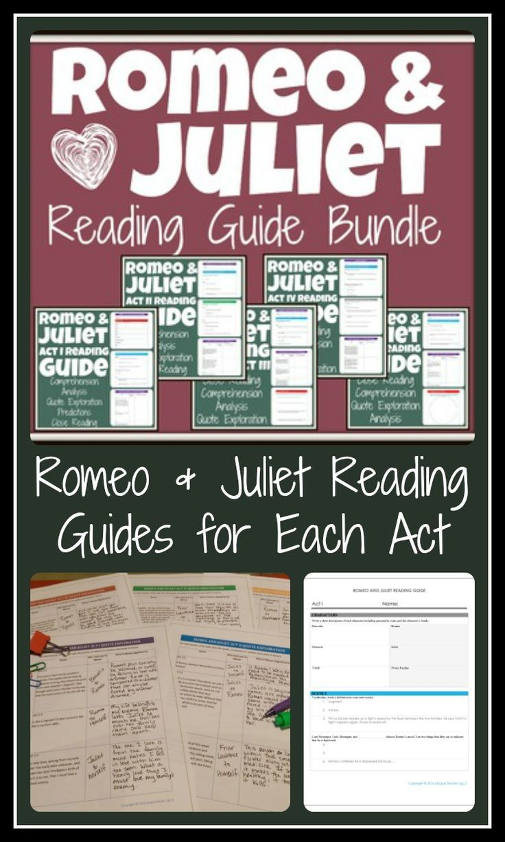 Romeo And Juliet Quotes And Meanings Romeo And Juliet Reading Guide Bundle With Engaging Activities .
