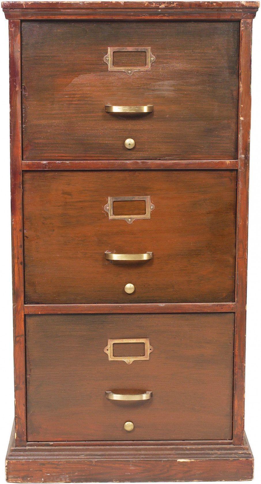 55 Vintage Wooden Filing Cabinet