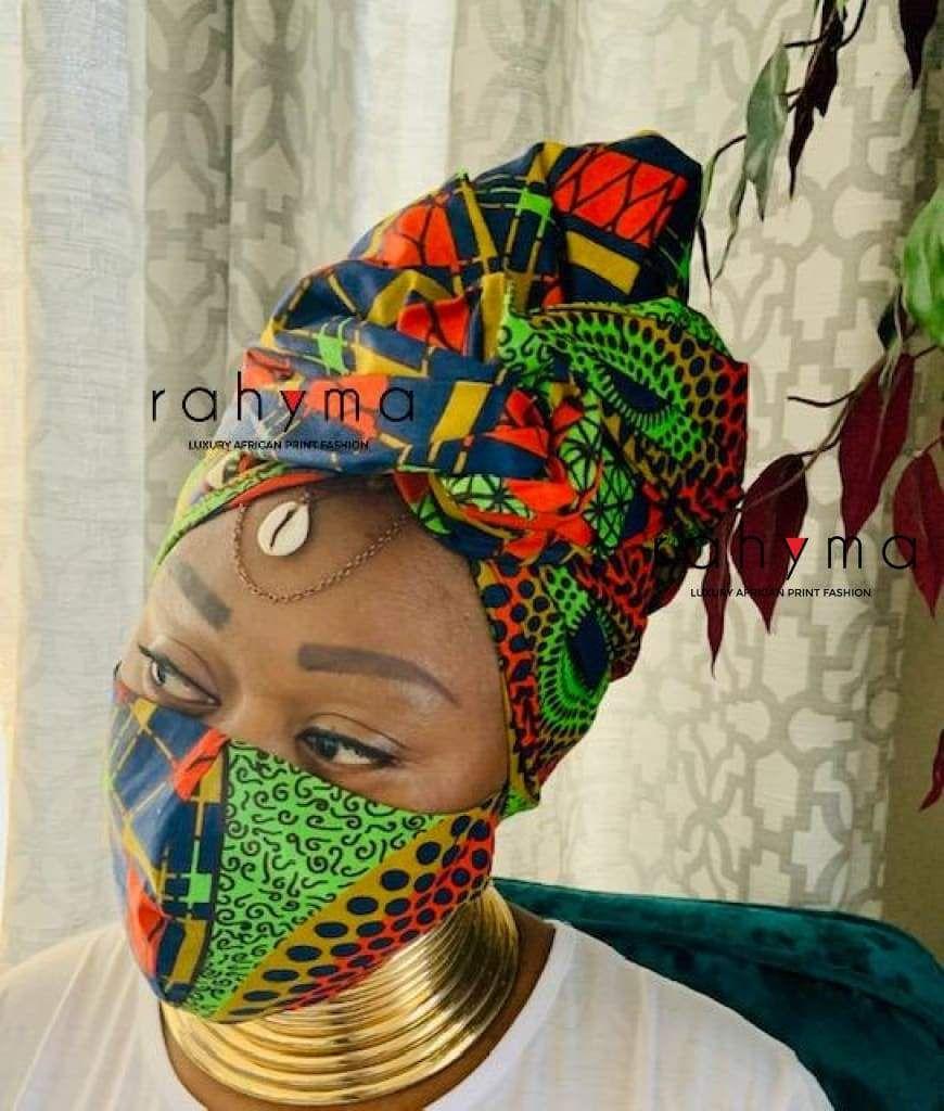 Reversible Mask and Head-wrap Set Jezreel - Mask &