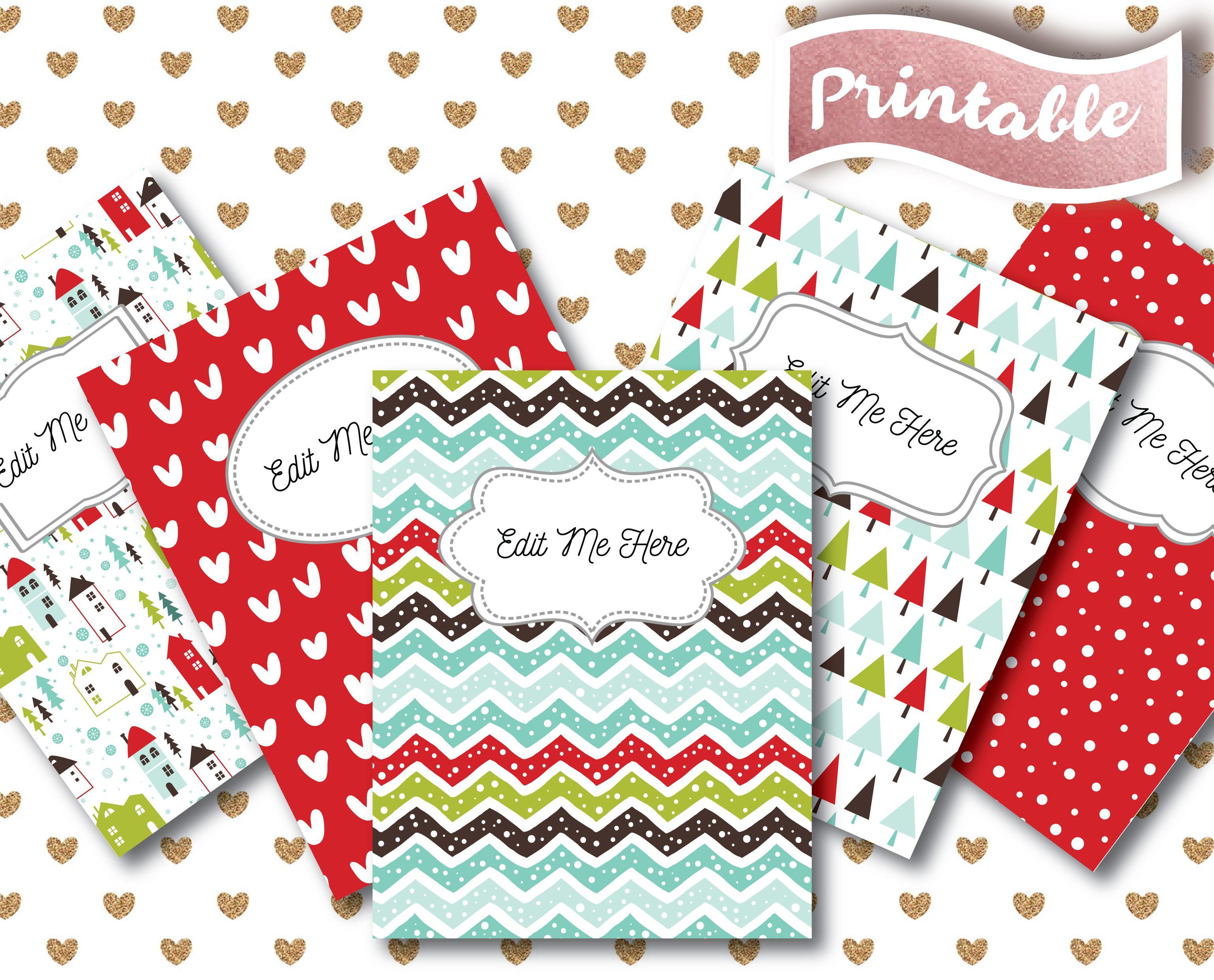 teacher binder cover page spines custom editable binder summer college student plan organizer a4 school inserts pdf sale discount