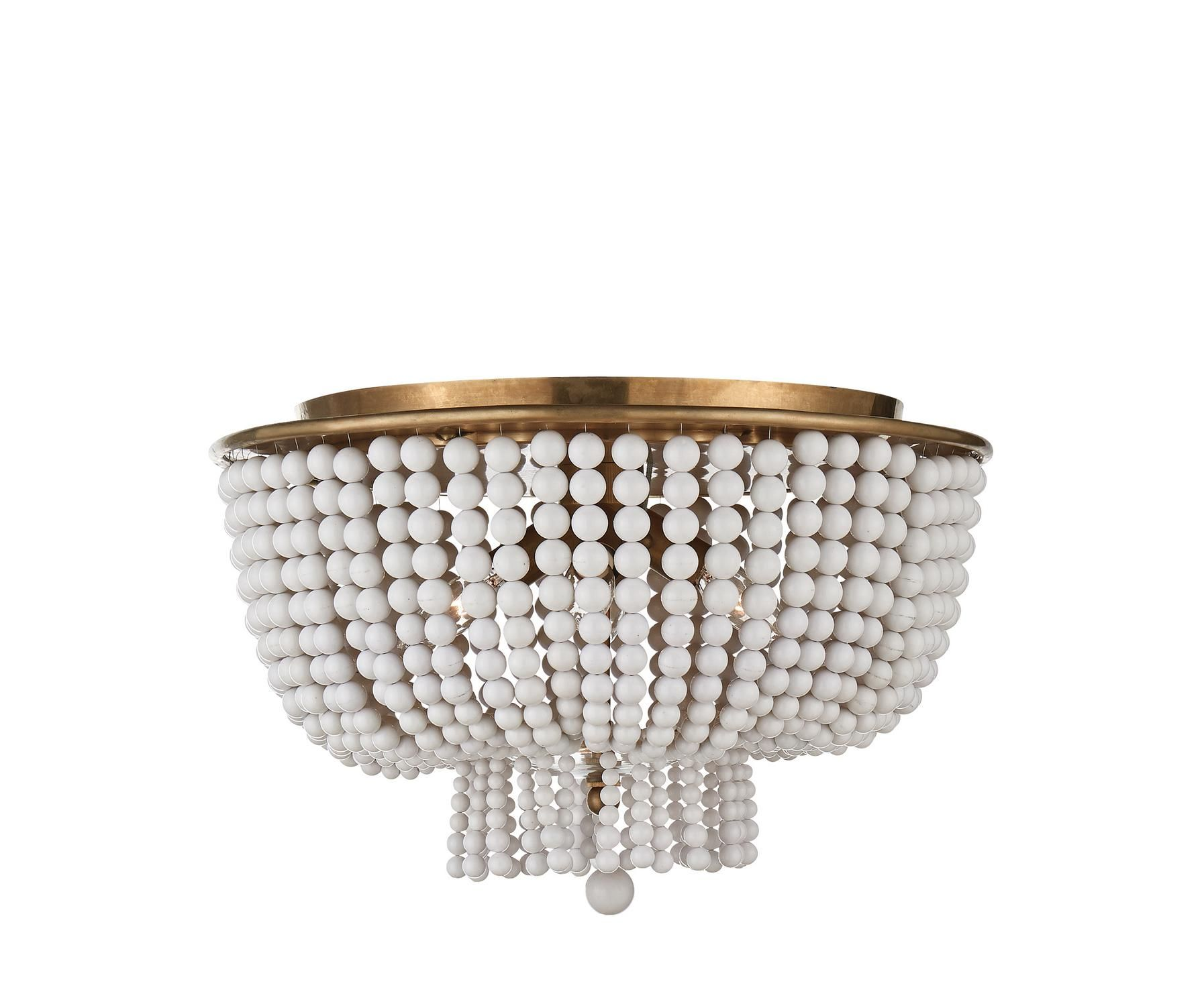 Close To Ceiling Lights Beauteous Jacqueline Flushmount In White Glass  Aerin  Lighting  Ceiling Design Decoration