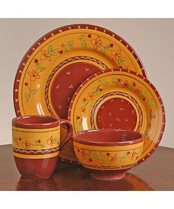 Love this Tuscan dinnerware!  sc 1 st  Pinterest & Google Image Result for http://ak1.ostkcdn.com/images/products ...