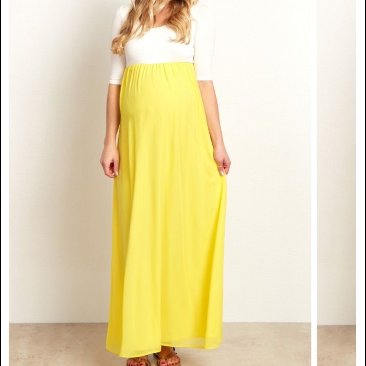 93fa80b0561cc Yellow Chiffon Color Kick Maxi Dress | Products | Chiffon maxi dress ...