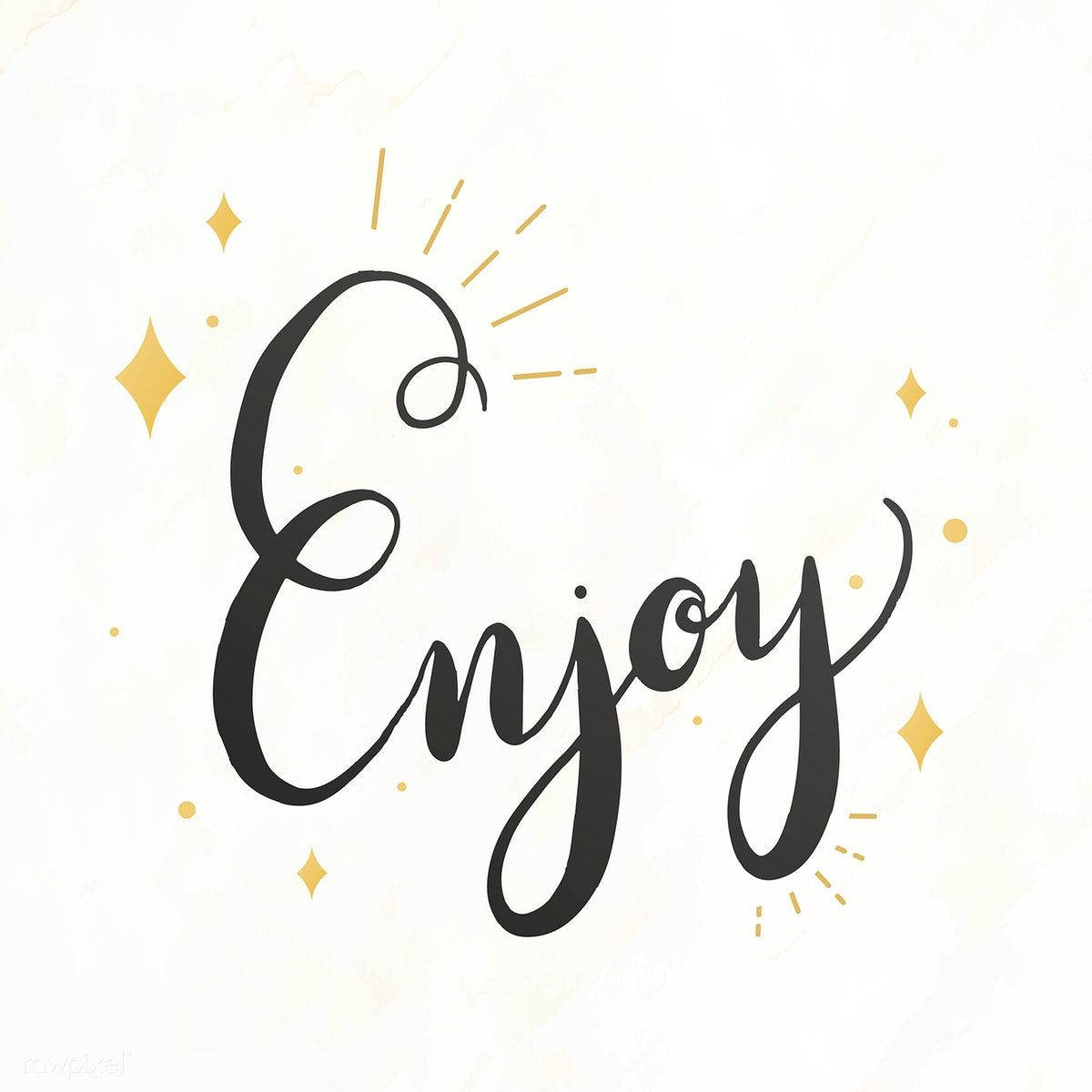 The word enjoy typography vector free image by rawpixel