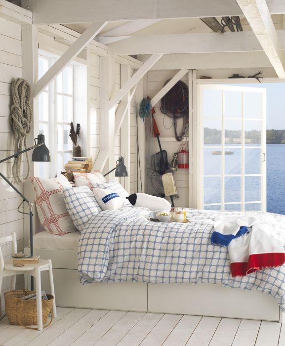 Nantucket Bedroom Design Ideas: Seaside Cottage-Designer: Helena Gyllensvärd