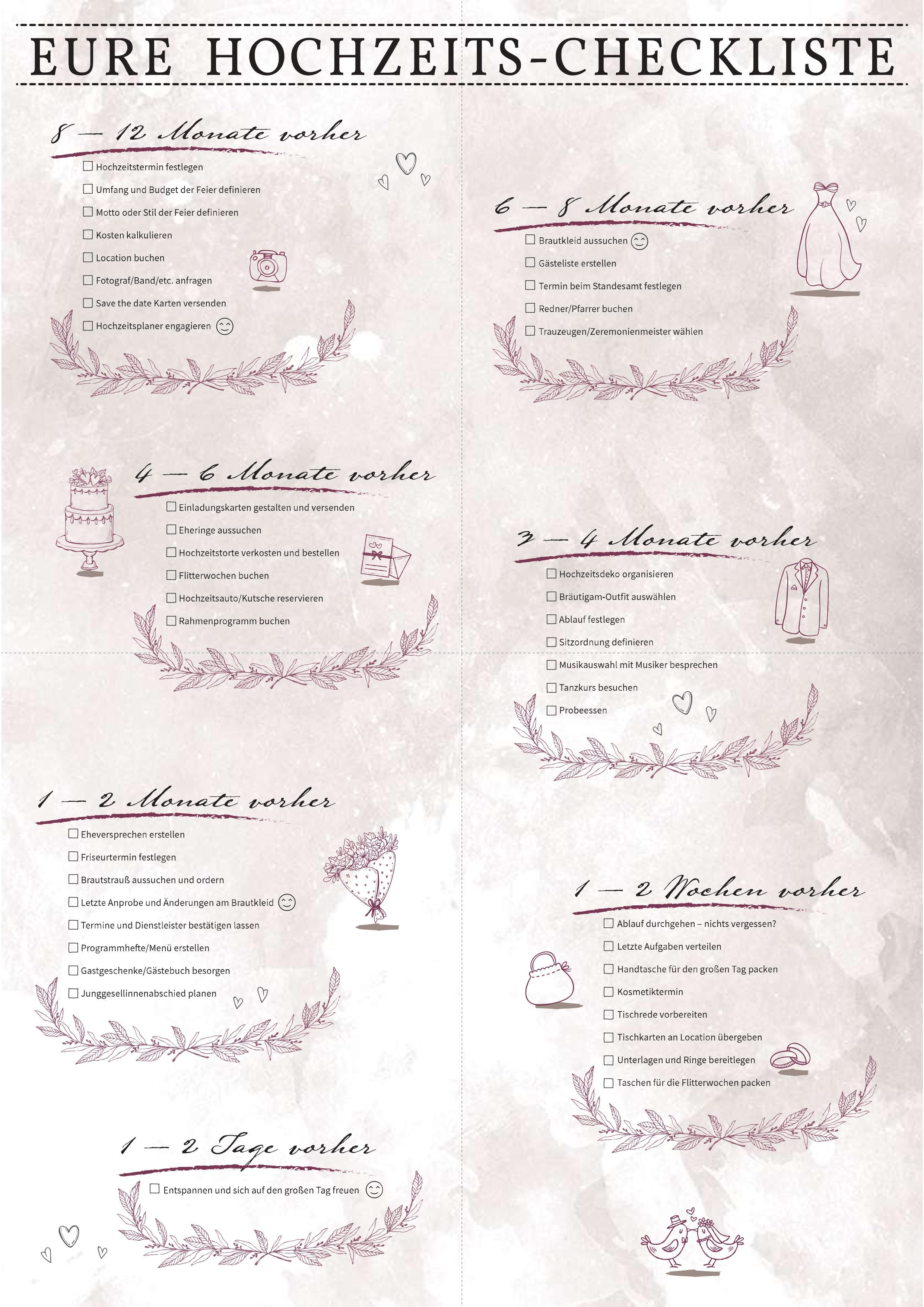 Deine Hochzeits Checkliste Hochzeitsplanung Hochzeitsplanung Tipps Hochzeit