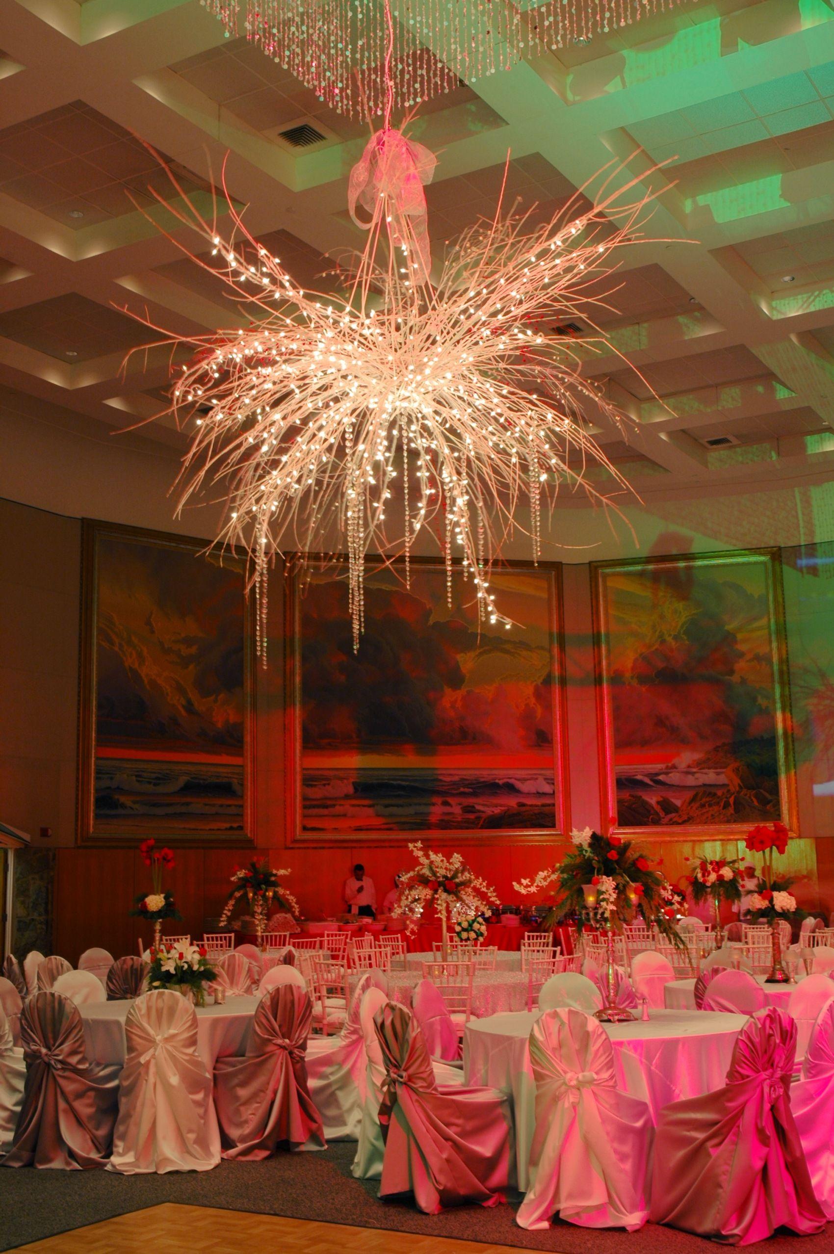Wedding reception decoration images  gorgeous  dramatic white lighting  lighting white lights