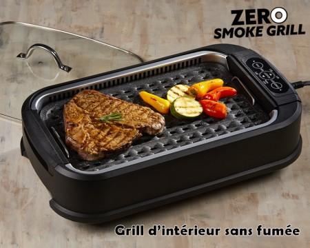 ZERO SMOKE GRILL barbecue d'intÉrieur, plancha euroshopping