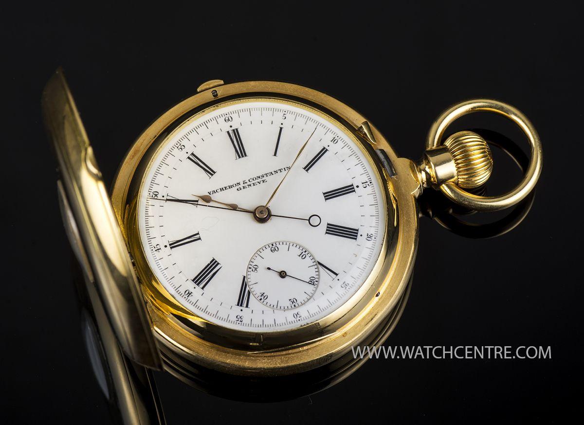 Vacheron Constantin 18k Y G Chronograph Half Hunter Pocket Watch C1890 Pocket Watch Pendant Watches Old Pocket Watches