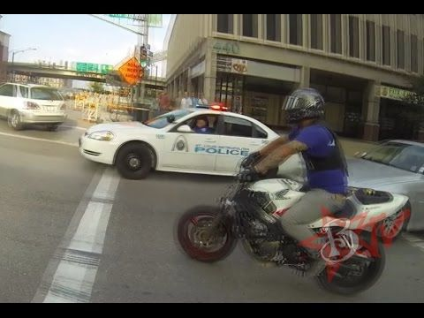 Police Chase Motorcycles Running From Cops Helicopter Patrol Car