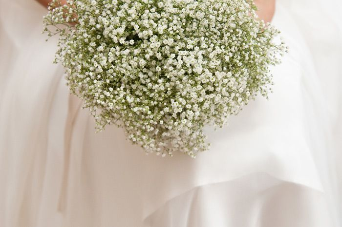 bouquet en gypsophiles